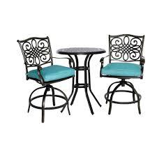 3 piece patio bar set. Simple Set Patio Ideas Bar Height Table With Umbrella Hanover Traditions 3 Piece  Aluminum Round To Set U
