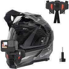 Verbesserte Motorrad Helm Kinn Mount für GoPro Hero 9 8 7 6 5 Insta 360 Ein  R X AKASO DJI osmo Action Kamera Zubehör Sportcamcorder-Hüllen