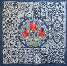 Free Blackwork Embroidery Charts Dutch Tile Blackwork Design Pdf Chart Options