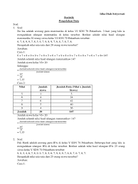 Check spelling or type a new query. Soal Statistiha Kls 6 Sd Jawabanku Id
