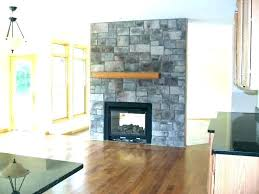 double sided gas fireplace two insert log natural