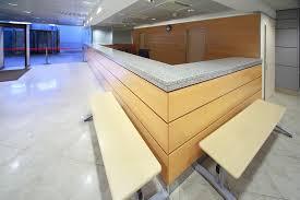 reception desk with granite countertop
