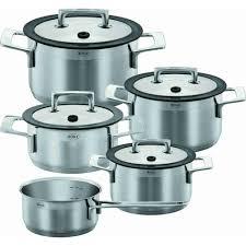 aneuware  rÖsle silence pot set  pieces with glass lids