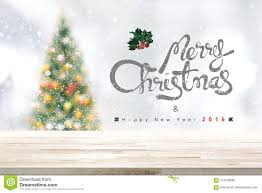 Merry Christmas And Happy New Year 2018 Background With Wood