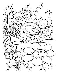 Spring Coloring Pages Spring Printable Coloring Pages Free Printable