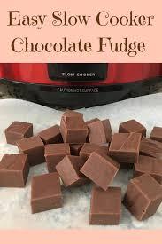 slow cooker fudge recipe made easy