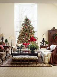 Living Room Christmas Decorating Decorating Christmas Trees Traditional Home