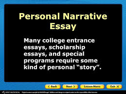 second semester parallel structure personal narrative essay ppt  29 personal narrative essay