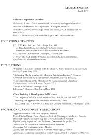 Attorney Resume Templates Lawyer Resume Litigation Mediation Teaching Susan  Ireland Resumes