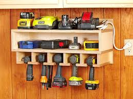 tool organizer wall cordless station woodworking plan from wood garage