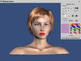fashion make up design with a 3d model