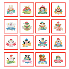 Dollar Week Day 1 16 Merry Christmas Labels