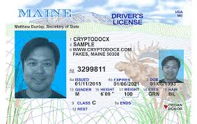 Maine Driver Holograms Uv Markings License