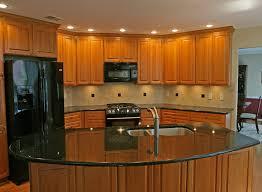 stunning wooen style cabinets granite countertops kitchen remodel
