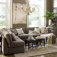 Furnitures, : Comfy Large Gray U Shaped Sectional Sofa With Contemporary  Chandelier Lamp Living Room