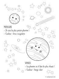 Coloriages De L Espace Plan Te Mercure