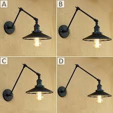 swing arm wall lamp loft industrial adjule long swing arm wall lamp fixture vintage bulb mirror swing arm wall lamp