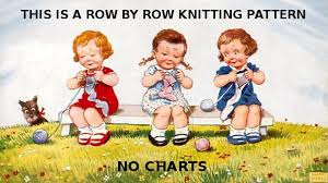 Instant Pdf Digital Download Vintage Row By Row Knitting