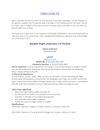 Resume Format For Cabin Crew Resume For Study