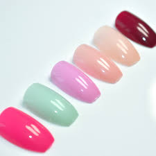 Aliexpress.com : Buy 6 sets Candy Color Coffin Nails Art Tips ...