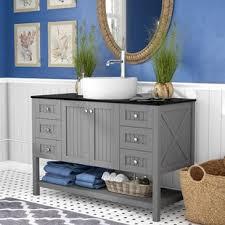 Single vessel sink bathroom vanities Wall Mount Quickview Beachcrest Home Nadel 48 Wayfair 48 Inch Vessel Sink Bathroom Vanities Youll Love Wayfair