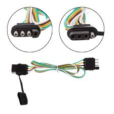 4 pin flat pvc trailer light plug wire harness connector for caravan 4 pin flat pvc trailer light plug wire harness connector for caravan af 6 12 24v auto cables adapters sockets