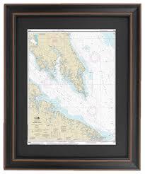 Potomac River Depth Chart Framed Nautical Chart Chesapeake Bay Potomac River To Piney Point