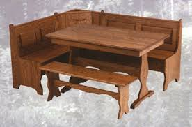 corner nook solid oak breakfast nook amish corner breakfast nooks