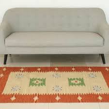 wool area rug india sunset colorful indian handwoven wool dhurrie rug