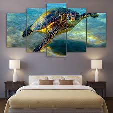 hd printed 5 piece wall art canvas deep ocean turtles canvas painting posters and prints large art print the underwater world in painting calligraphy from  on sea turtle canvas wall art with hd printed 5 piece wall art canvas deep ocean turtles canvas