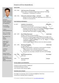 Resume Template Simple In Word Format 4 File Inside Download 89