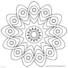 Simple mandala coloring pages 8