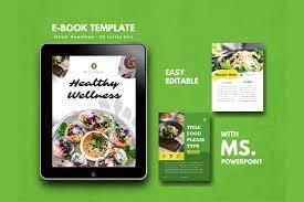 Ebook Template Vegetarian Recipe Ebook Template Theme Powerpoint