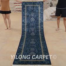 oriental rug on carpet. Yilong 2.5\u0027x9\u0027 Persian Silk Carpet Runner Blue Exquisite Hand Knotted Oriental Rug On I