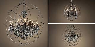 foucaults orb chandelier artistic s orb crystal chandelier polished nickel medium 2 on with crystals home foucaults orb chandelier