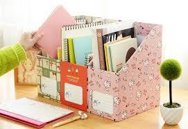 Wholesale Magazine Holders 100Xkawaii Paper Stationery Storage Case Office School Supply File 100
