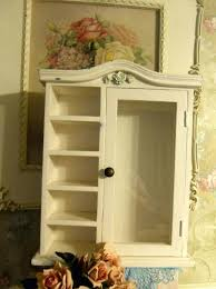 small wall cabinet small wall mount curio cabinet w glass door 5 shelves style small bathroom