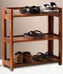 Solid Wood Shoes Rack