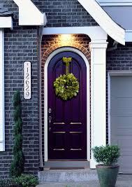 house front door open. Great Feng Shui Front Door: Open And Welcoming; Purple Door Welcomes Prosperity; Wreath Is Welcoming, Too; Address Very Clear Easy To See. House D