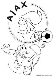 Ajax Donald Duck Kleurplaat