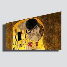 Quadro KLIMT ABBRACCIO particolare Albero della Vita periodo oro  RIPRODUZIONE STAMPA SU TELA XXL Quadri Moderni Arte Cucina Soggiorno Camera  da letto 50x100 cm Poster e stampe Casa e cucina