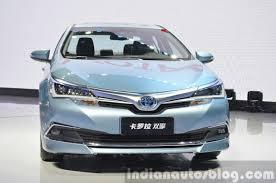 Toyota Corolla Hybrid front at Auto Shanghai 2015 - Indian Autos blog