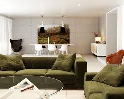 Orange Living Room Chairs Living Room Green White Orange Living Room With Hanging Light