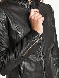 canada boss orange jonassa leather jacket womens coats colour black
