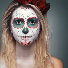 sugar skull makeup mexican day of dead holiday makeup