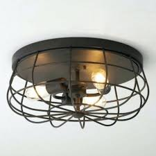 flush mount enclosed ceiling fan. Ceiling Fan ~ Flush Mount Enclosed With Light Within Caged