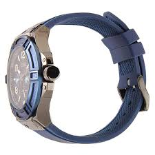 new guess watch men blue silicone strap band day date guess watch for men w0248g5