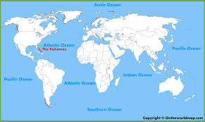 the bahamas location on the world map