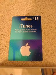 5 dollar itunes gift card fresh used 15 dollar itunes t card letgo
