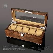 wooden display boxes tang 5 slots watch storage cases box men brown case with lock women jewelry window wood from glass lid uk
